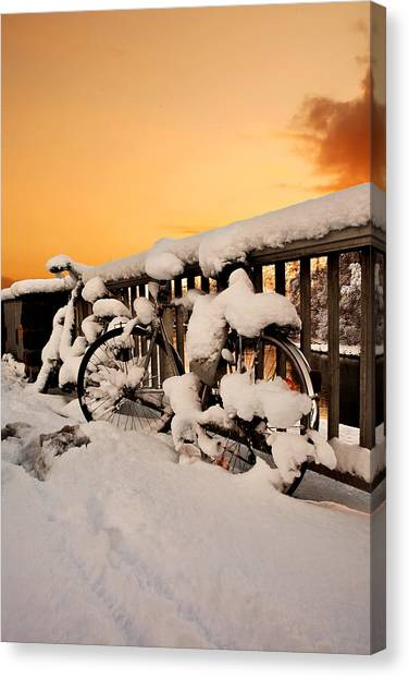 No Cycling Today Canvas Print