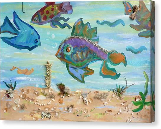 No Fishing Canvas Print by Brenda Ruark