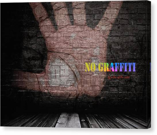 No Graffiti Canvas Print