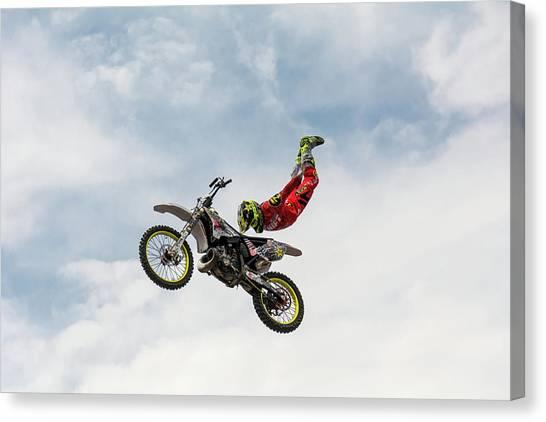Skydiving Canvas Print - No Hands Superflyer by Mircea Vlasceanu