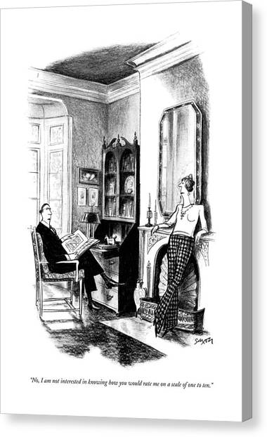 No, I Am Not Interested In Knowing How Canvas Print by Charles Saxon