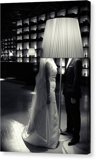 Bride Canvas Print - No Idea by Rockas Kane