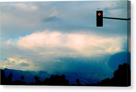 Thunderclouds Canvas Print - No Left Turn For Cloud by Randall Weidner