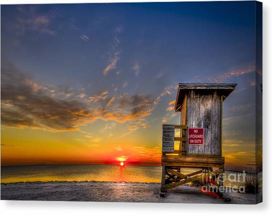 Lifeguard Canvas Print - No Life Guard On Duty by Marvin Spates