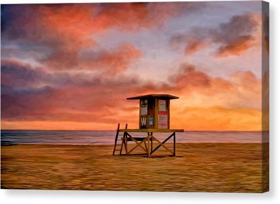 No Lifeguard On Duty At The Wedge Canvas Print