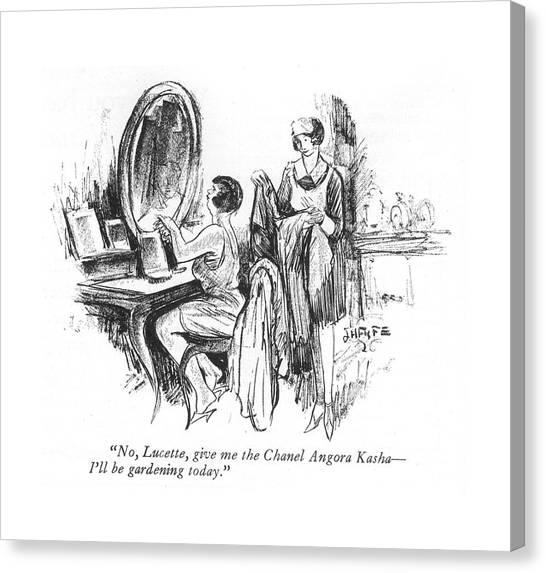 No, Lucette, Give Me The Chanel Angora Kasha - Canvas Print