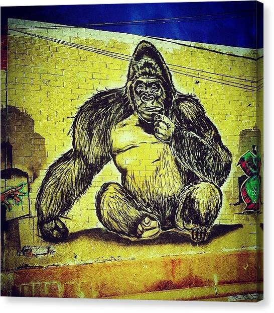 Gorillas Canvas Print - No Matter Where You Are Or How Safe You by AZ Street Art