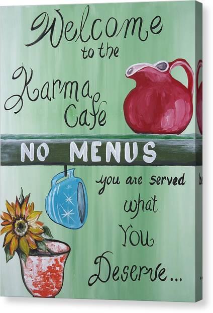 No Menus Canvas Print