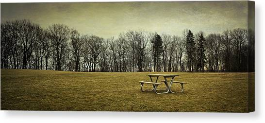 Tables Canvas Print - No More Picnics by Scott Norris