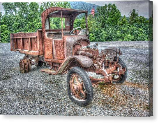 Rusty Truck Canvas Print - No More Rides For Mr. Handy by Dan Stone