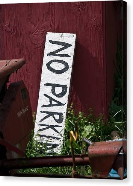 No Parking Canvas Print by Nickaleen Neff