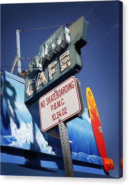 Skateboarding Canvas Print - No Skateboarding by Jeff Klingler