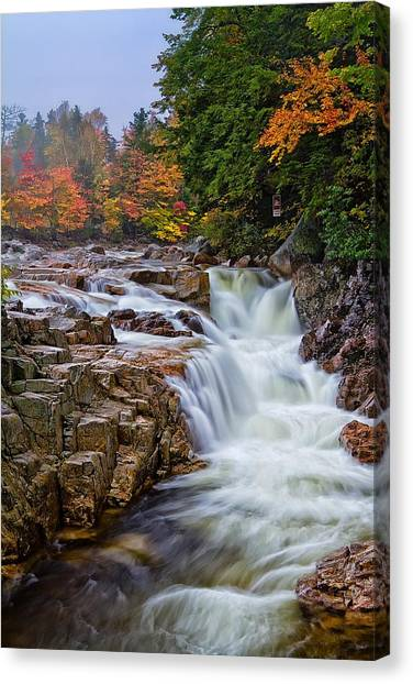 No Swimming Rocky Gorge Albany Nh Canvas Print
