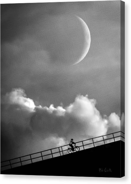 Moon Canvas Print - No Turning Back by Bob Orsillo