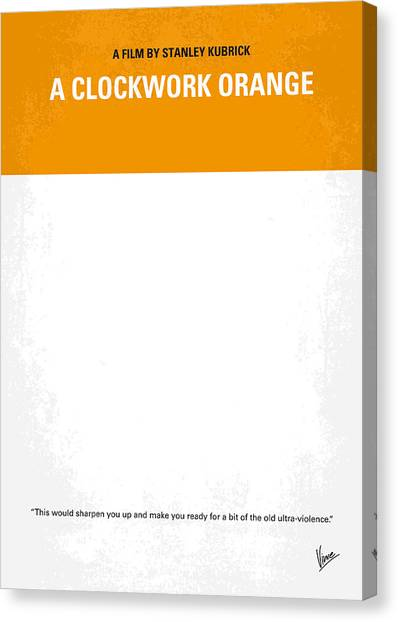 Milk Canvas Print - No002 My A Clockwork Orange Minimal Movie Poster by Chungkong Art