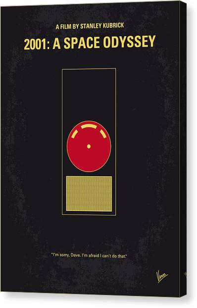 Computers Canvas Print - No003 My 2001 A Space Odyssey 2000 Minimal Movie Poster by Chungkong Art