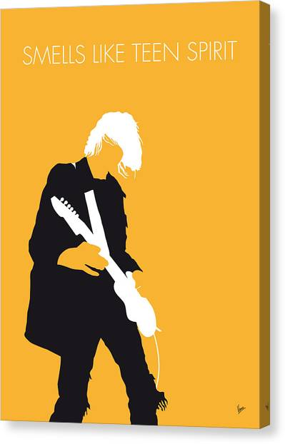 Nirvana Canvas Print - No004 My Nirvana Minimal Music Poster by Chungkong Art