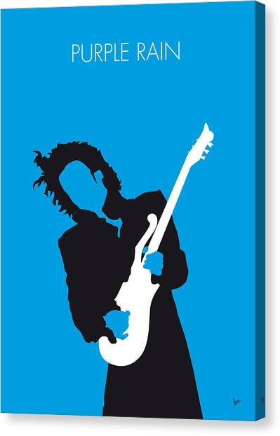 Rain Canvas Print - No009 My Prince Minimal Music Poster by Chungkong Art