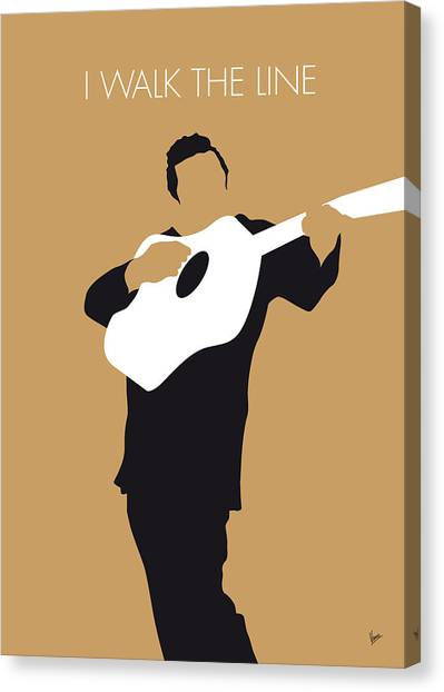 Rock Music Canvas Print - No010 My Johnny Cash Minimal Music Poster by Chungkong Art
