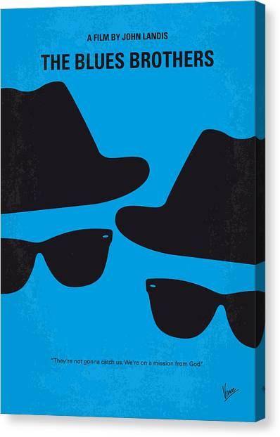 Brown Canvas Print - No012 My Blues Brother Minimal Movie Poster by Chungkong Art