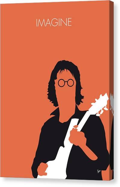 John Lennon Canvas Print - No013 My John Lennon Minimal Music Poster by Chungkong Art