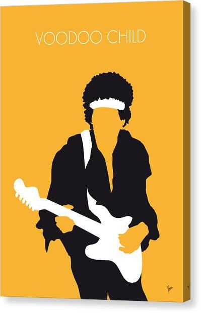 Guitar Canvas Print - No014 My Jimi Hendrix Minimal Music Poster by Chungkong Art