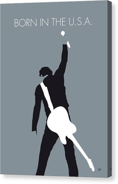 Rock Music Canvas Print - No017 My Bruce Springsteen Minimal Music Poster by Chungkong Art