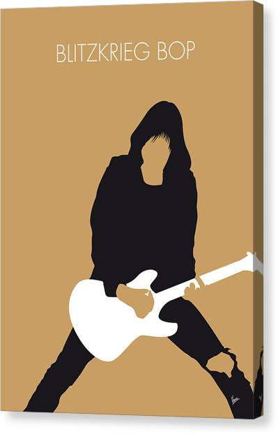 Ramones Canvas Print - No020 My Ramones Minimal Music Poster by Chungkong Art