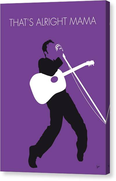 Design Canvas Print - No021 My Elvis Minimal Music Poster by Chungkong Art