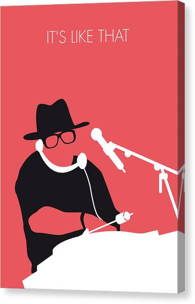 Hips Canvas Print - No022 My Run Dmc Minimal Music Poster by Chungkong Art