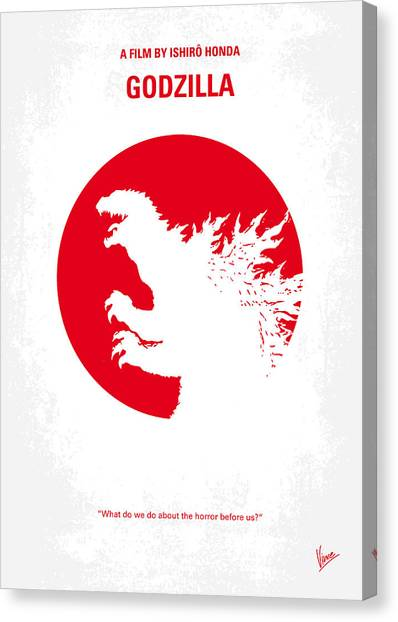 New York Giants Canvas Print - No029-2 My Godzilla 1954 Minimal Movie Poster.jpg by Chungkong Art
