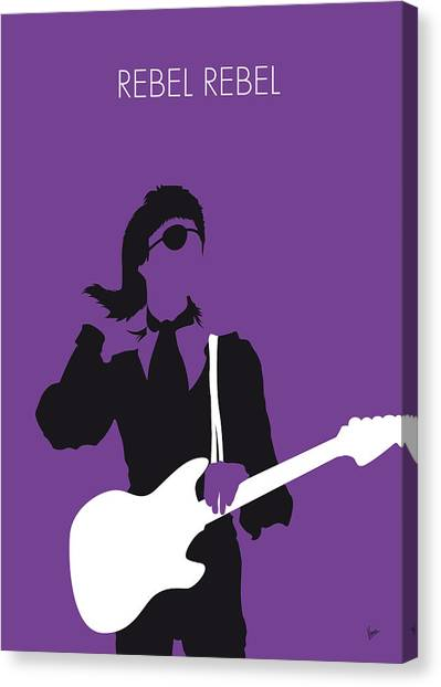 Diamonds Canvas Print - No031 My Bowie Minimal Music Poster by Chungkong Art