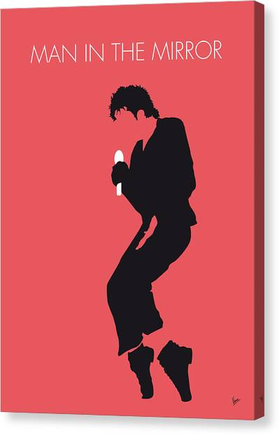 Music Inspired Art Canvas Print - No032 My Michael Jackson Minimal Music Poster by Chungkong Art