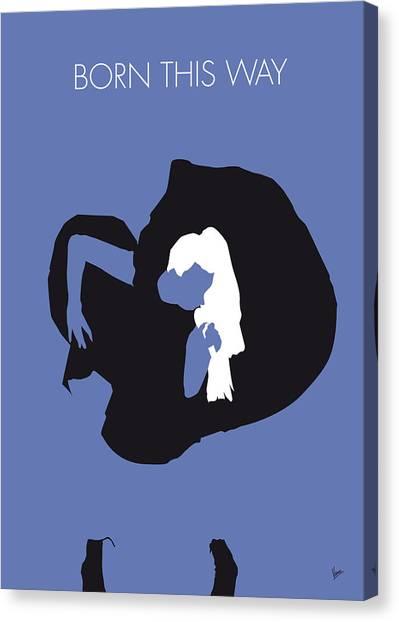 Lady Gaga Canvas Print - No038 My Lady Gaga Minimal Music Poster by Chungkong Art