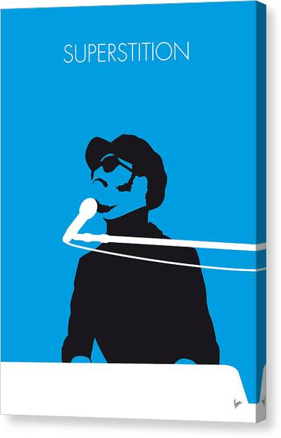 Music Inspired Art Canvas Print - No039 My Stevie Wonder Minimal Music Poster by Chungkong Art