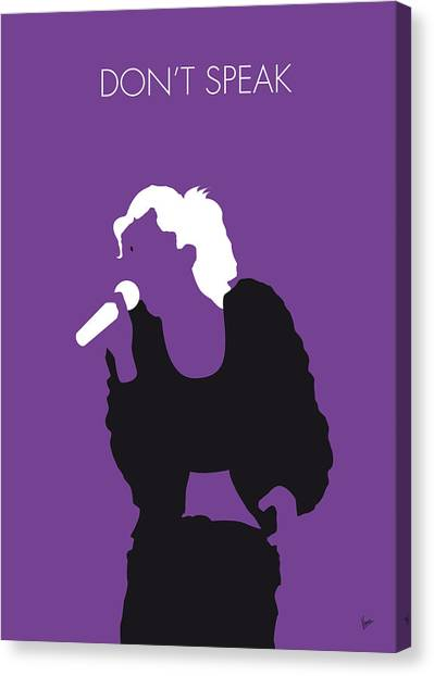 Gwen Stefani Canvas Print - No051 My No Doubt Minimal Music Poster by Chungkong Art