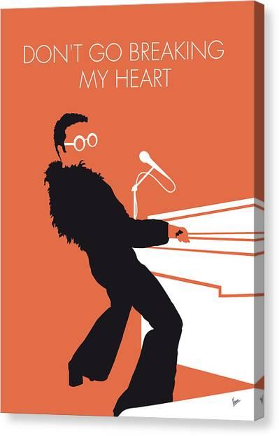 Elton John Canvas Print - No053 My Elton John Minimal Music Poster by Chungkong Art