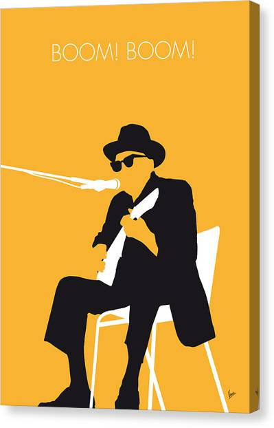 Rock Music Canvas Print - No054 My Johnny Lee Hooker Minimal Music Poster by Chungkong Art