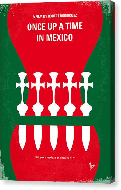 Cia Canvas Print - No058 My Once Upon A Time In Mexico Minimal Movie Poster by Chungkong Art