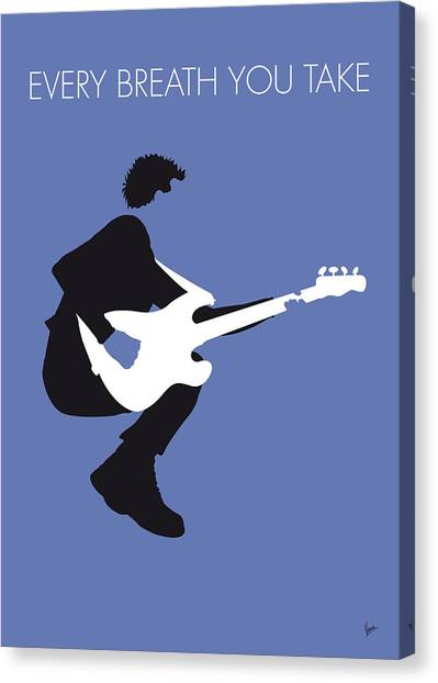 Guitars Canvas Print - No058 My The Police Minimal Music Poster by Chungkong Art