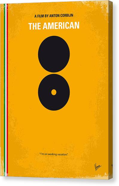 Weapons Canvas Print - No088 My The American Minimal Movie Poster by Chungkong Art