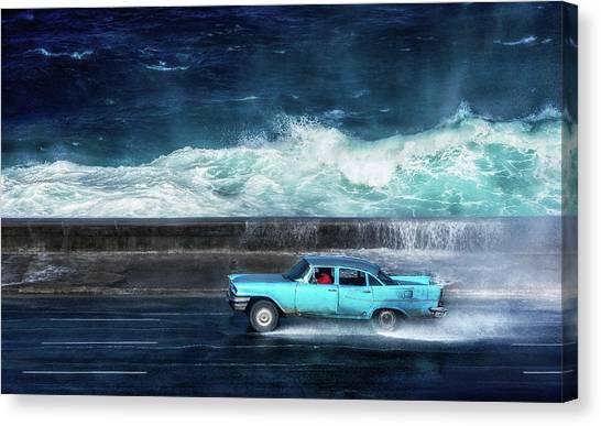 Driving Canvas Print - No1 by Alper Uke