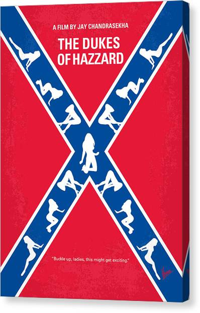 Duke University Canvas Print - No108 My The Dukes Of Hazzard Movie Poster by Chungkong Art