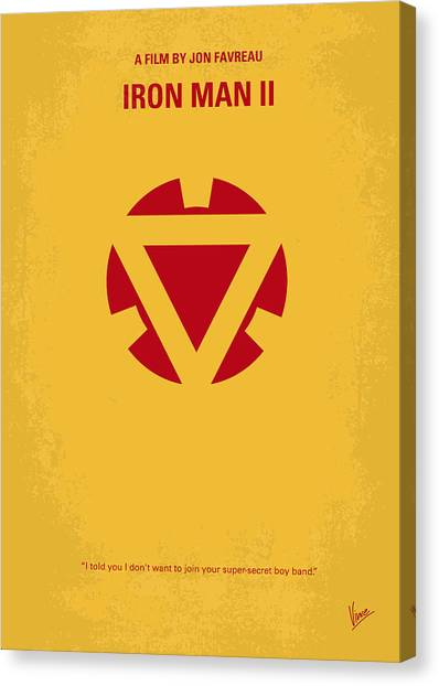 Genius Canvas Print - No113 My Iron Man Minimal Movie Posterno113-2 My Iron Man 2 Minimal Movie Poster by Chungkong Art