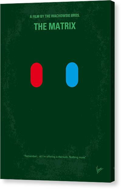 Hollywood Canvas Print - No117 My Matrix Minimal Movie Poster by Chungkong Art