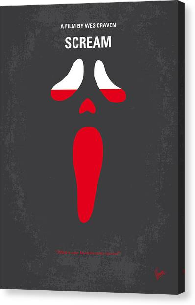 Face Canvas Print - No121 My Scream Minimal Movie Poster by Chungkong Art