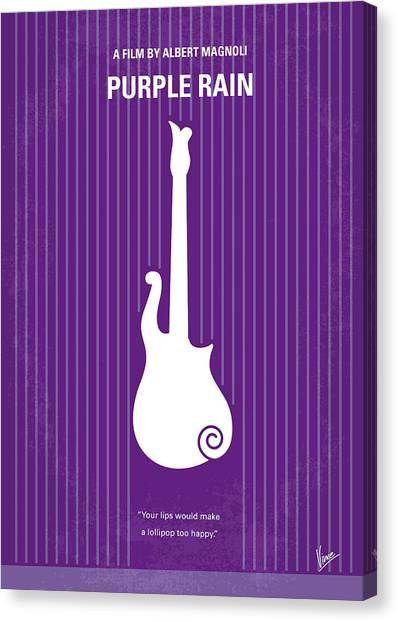 Purple Canvas Print - No124 My Purple Rain Minimal Movie Poster by Chungkong Art