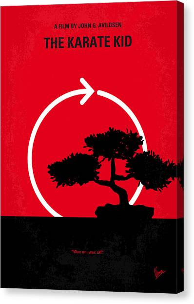 Karate Canvas Print - No125 My Karate Kid Minimal Movie Poster by Chungkong Art