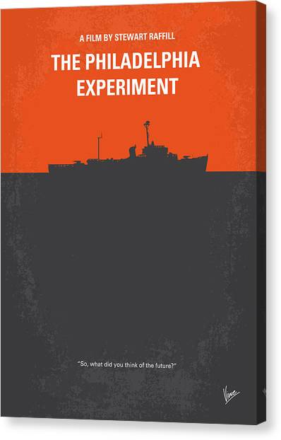 Navy Canvas Print - No126 My The Philadelphia Experiment Minimal Movie Poster by Chungkong Art