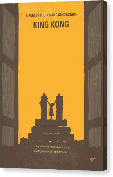 Primates Canvas Print - No133 My King Kong Minimal Movie Poster by Chungkong Art